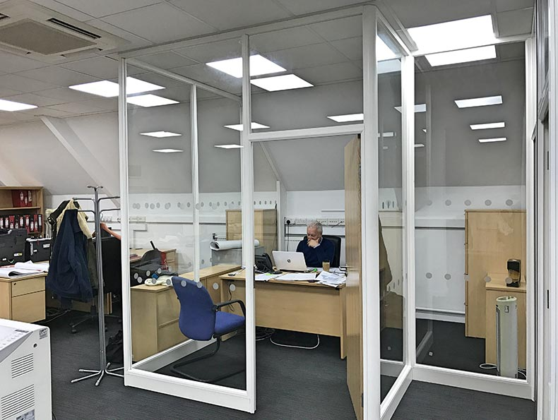 50mm Office Partitions Bristol