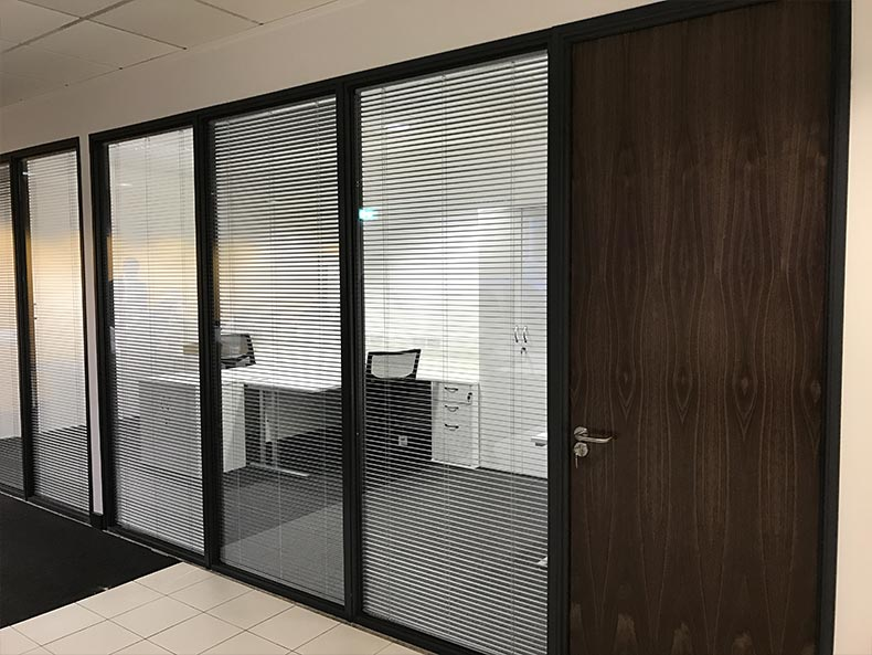SJ Cook & Sons office with framed glass partitioning