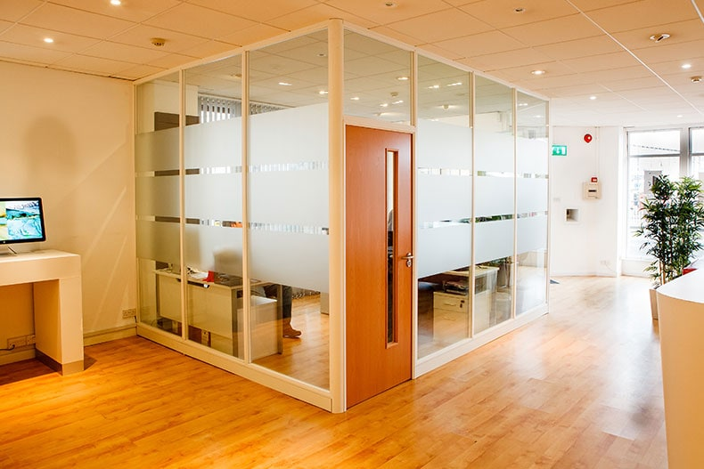 Demountable Glass Partitions in Bristol for Western Computers