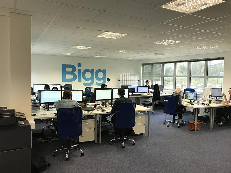 Glass Partition Walls in Bristol Office for BIGG Media