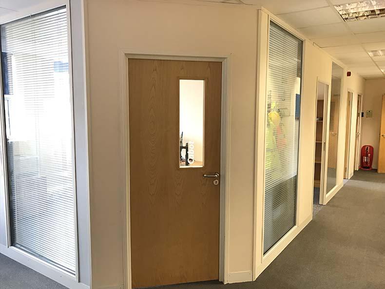 BOM IT office meeting room door
