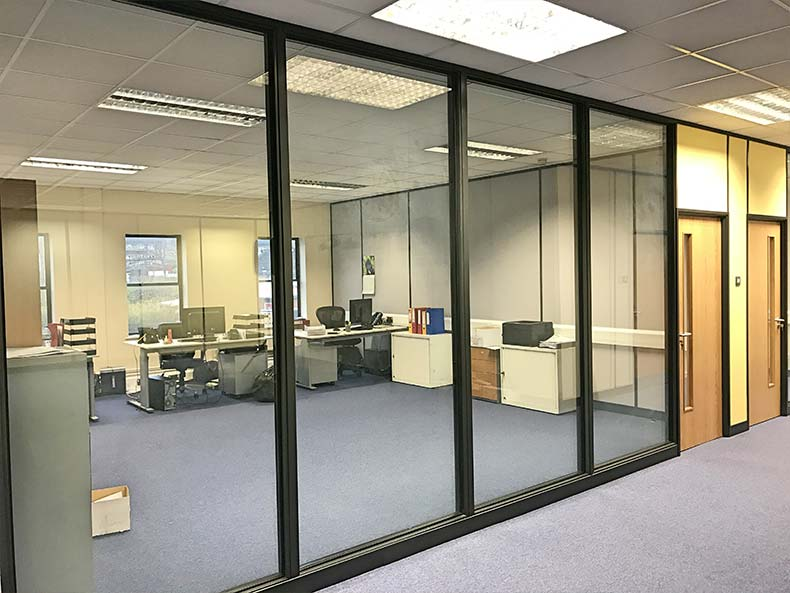 Chapple & Jenkins office with framed glass partition