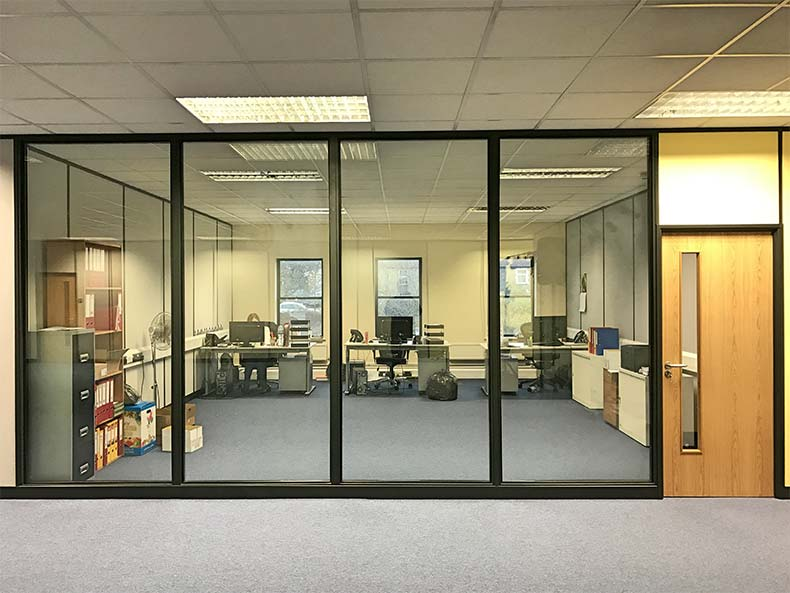 Chapple & Jenkins office with partitioned area