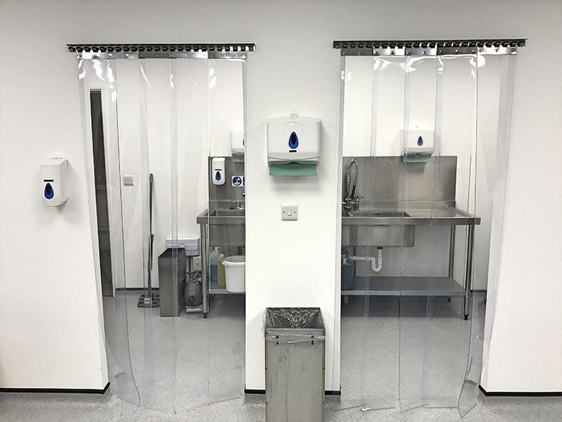 Fillcon wash area with sinks