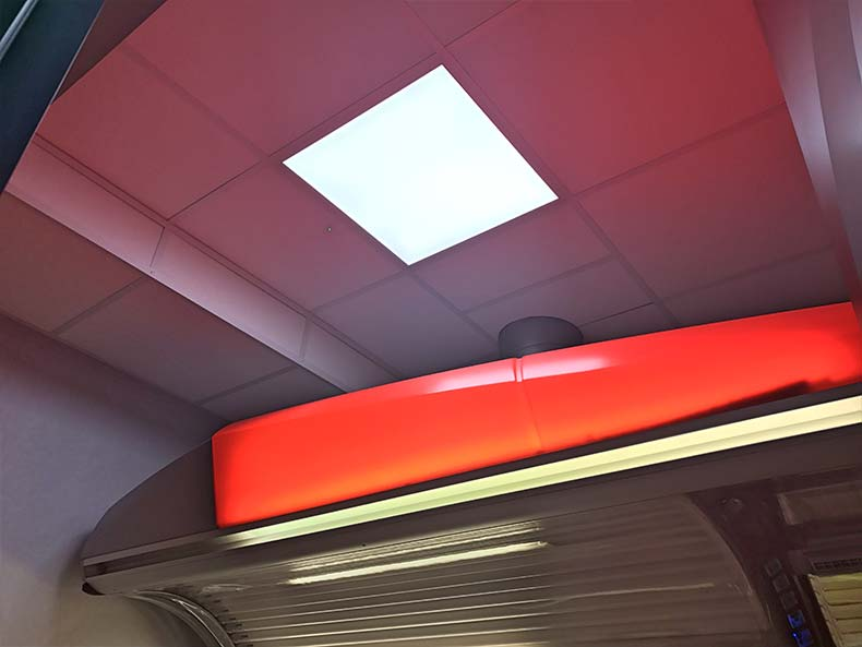 glӧden ceiling and tanning booth