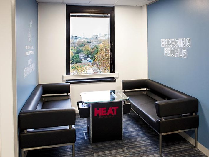 Heat office sitting area