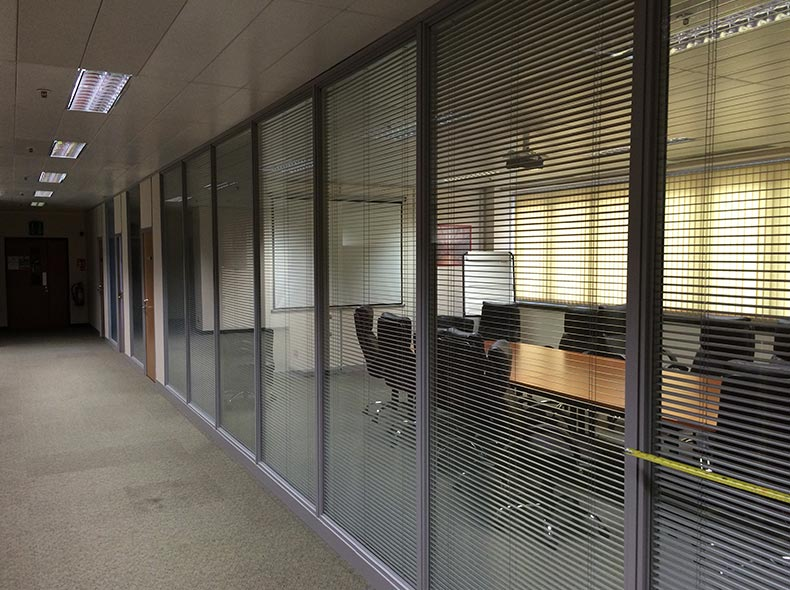 Glazed Office Partitions in Swindon for Iceland Distribution Centre