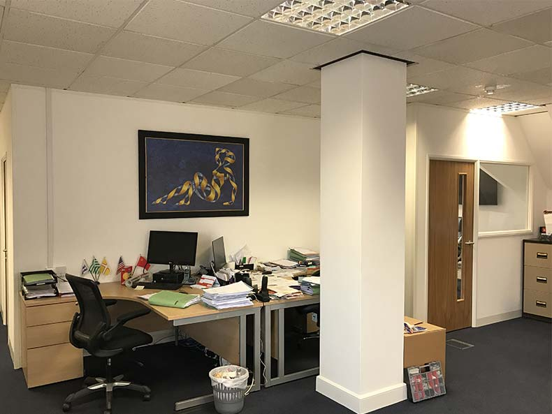 Office Partitioning in Swindon for Independent Financial Solutions 4U Ltd
