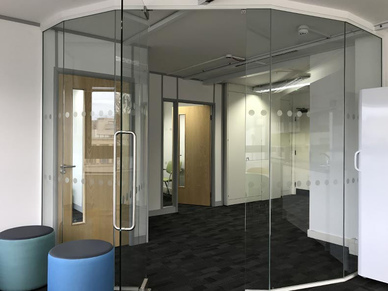 Lifetime Training Office Glass Door