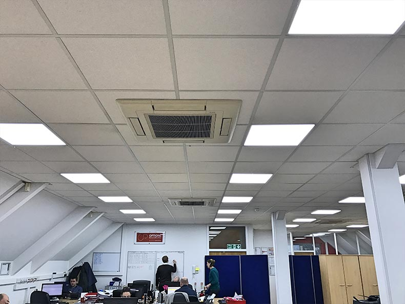 Options office ceiling