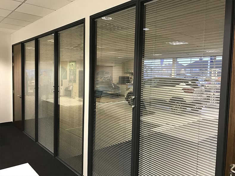 SJ Cook & Sons office with glass partitions