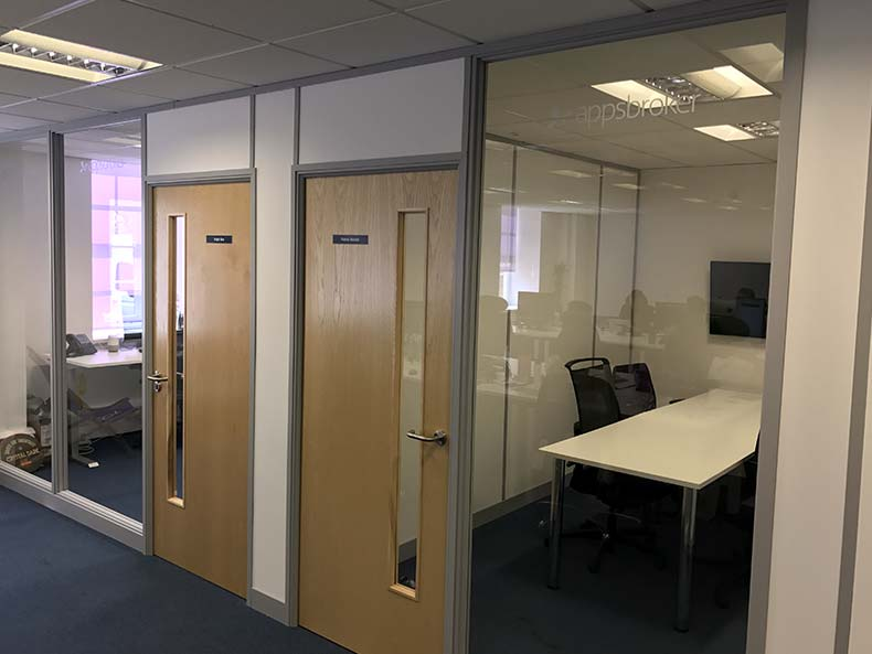 Glass Partitioning in Swindon Office for Appsbroker