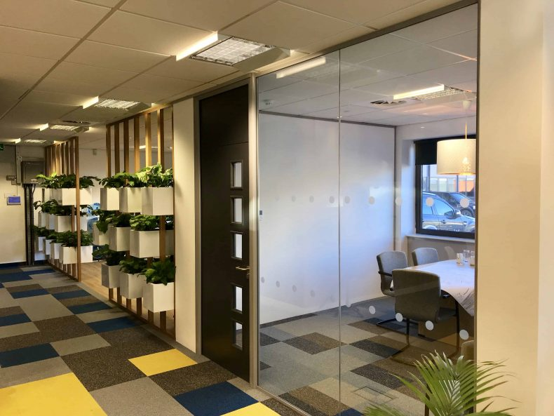 Glass Partitions in Bristol for Pegasus Group