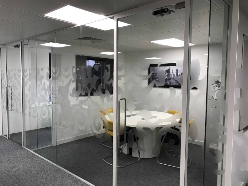 Glass Partitioning Bristol for Kingston Barnes