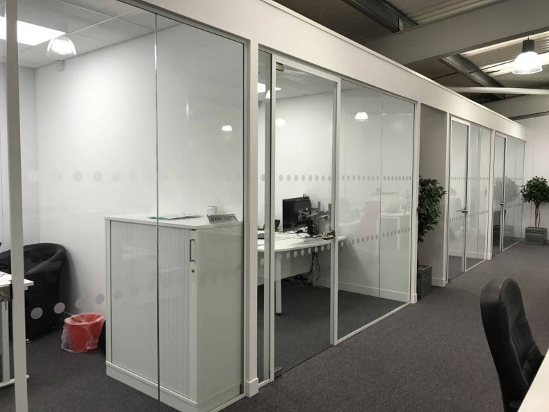 Glass Partitioning Bristol for Itec Group