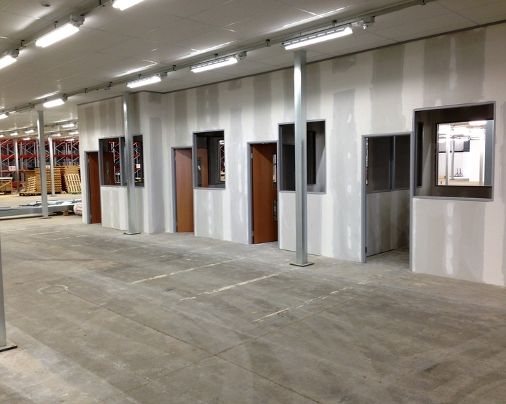 Dry Lining In Bristol Office And Warehouse