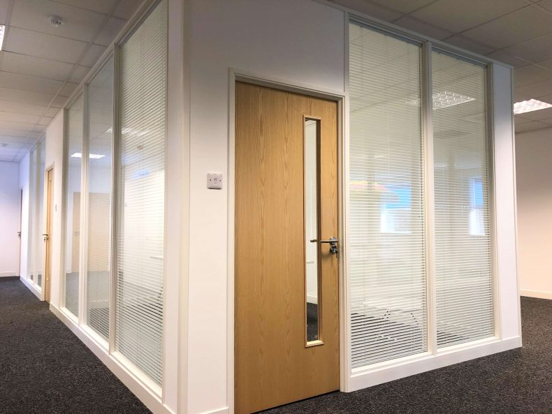 Multiple Offices with Glass Partitioning for POS