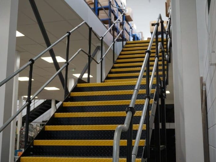 Mezzanine Floor Staircase in Bristol for Huboo