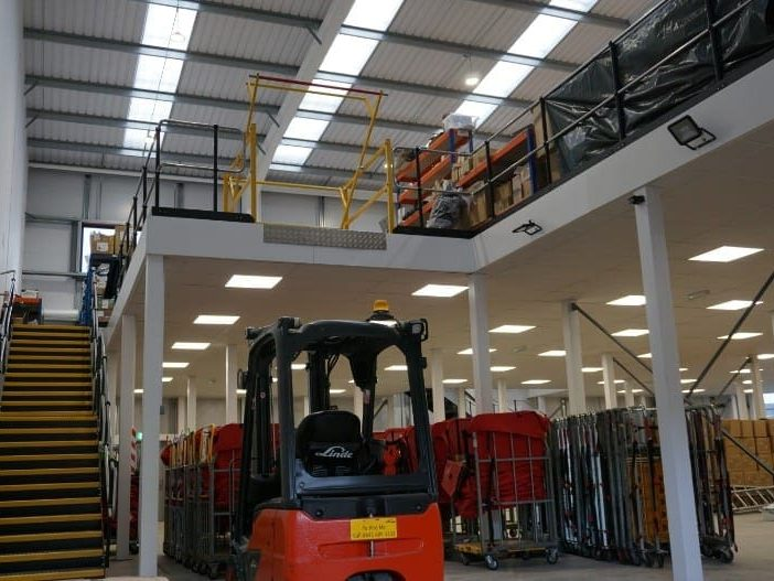 Warehouse Mezzanine Floor in Bristol for Huboo